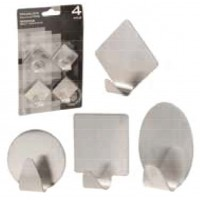 PERCHA INOXIDABLE ADHESIVAS IMPORT B-4