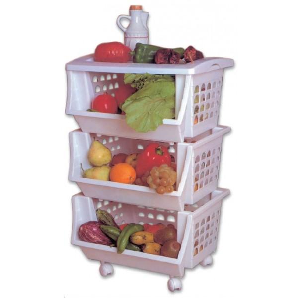 Verdulero pl stico toyma 3 cestas disgrup - Espatula plastico cocina ...